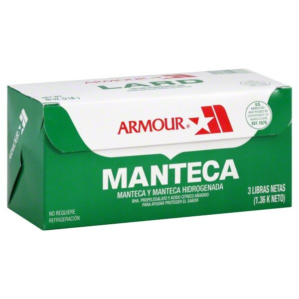 ARMOUR - MANTECA - LARD - 16oz