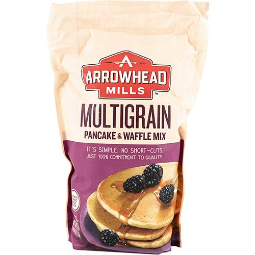 ARROWHEAD MILLS - MULTIGRAIN PANCAKE & WAFFLE MIX - 26oz