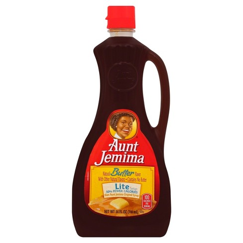 AUNT JEMIMA - NATURAL BUTTER FLAVOR LIGHT SYRUP - NATURAL - 24oz