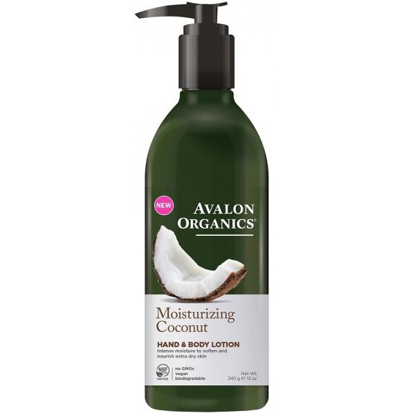 AVALON - MOISTURIZING COCONUT HAND & BODY LOTION - NON GMO - VEGAN - 12oz