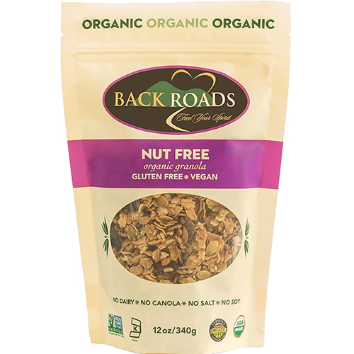 BACK ROADS - ORGANIC GRANOLA - (Nut Free) - 12oz