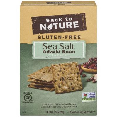 BACK TO NATURE - CRACKERS - NON GMO - GLUTEN FREE - (Sea Salt | Adzuki Bean) - 3.5oz