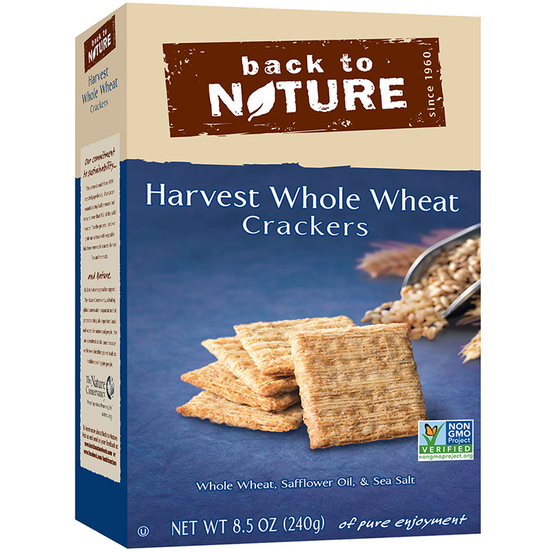 BACK TO NATURE - CRACKERS - NON GMO - (Harvest Whole Wheat) - 8.5oz