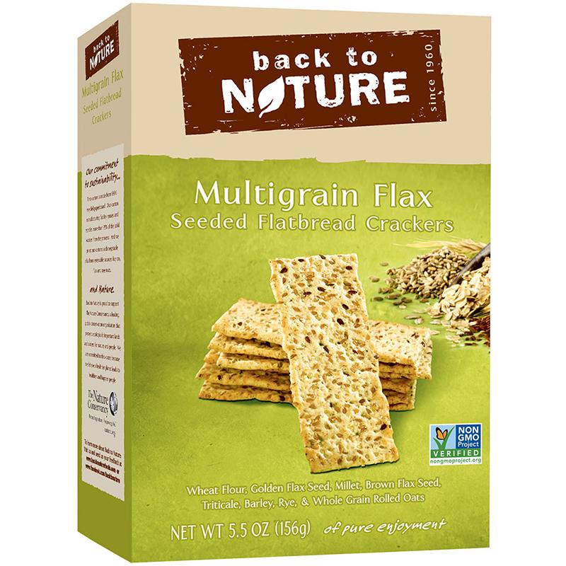 BACK TO NATURE - CRACKERS - NON GMO - (Multigrain Flax | Seeded Flatbread) - 5.5oz