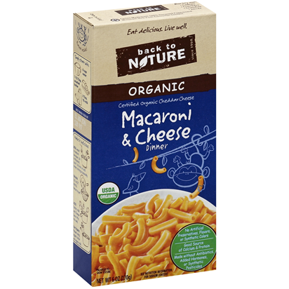 BACK TO NATURE - ORGANIC MACARONI & CHEESE DINNER - 6oz