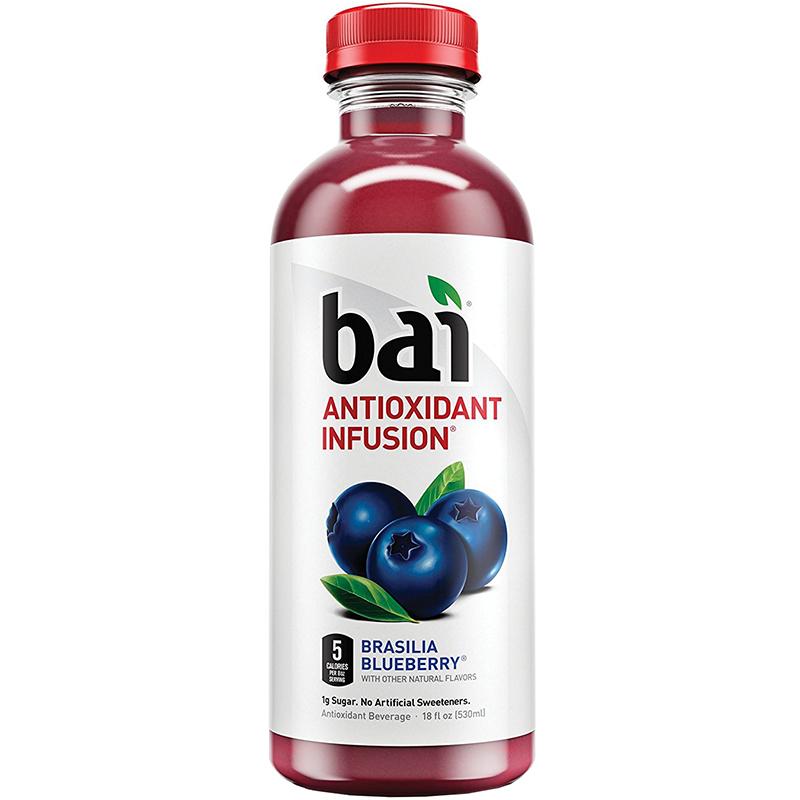 BAI - ANTIOXIDANT SUPERTEA - NON GMO - GLUTEN FREE - VEGAN - (Brasilia Blueberry) - 18oz