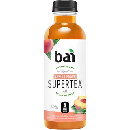 BAI - ANTIOXIDANT SUPERTEA - NON GMO - GLUTEN FREE - VEGAN - (Narino Peach) - 18oz