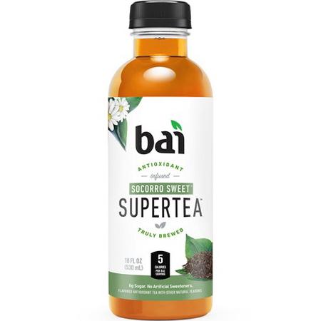BAI - ANTIOXIDANT SUPERTEA - NON GMO - GLUTEN FREE - VEGAN - (Socorro Sweet) - 18oz