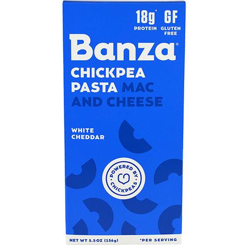BANZA - CHICKPEA PASTA MAC & CHEESE - GLUTEN FREE - (White Cheddar) - 5.5oz