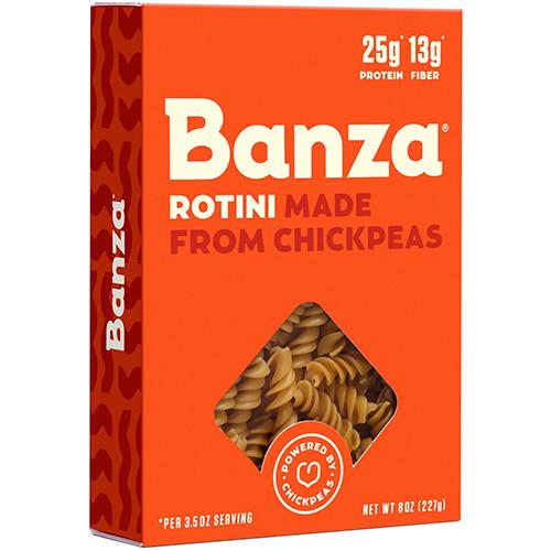 BANZA - CHICKPEA PASTA - (Rotini) - 8oz