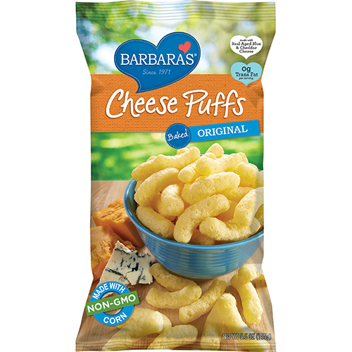 BARBARA'S - CHEESE PUFFS - NON GMO - GLUTEN FREE - (Baked | Original) - 7oz