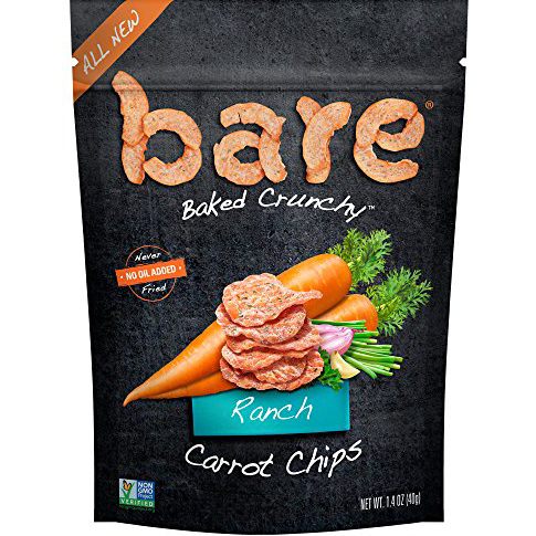BARE - BAKED CRUNCHY CARROT CHIPS - (Ranch) - 1.4oz