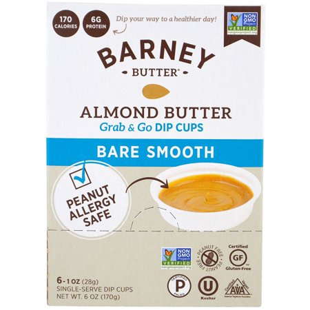 BARNEY - ALMOND BUTTER GRAB & GO DIP CUPS - NON GMO - GLUTEN FREE - 6oz