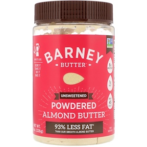 BARNEY - POWDERED ALMOND BUTTER - (Unsweetened) - 8oz