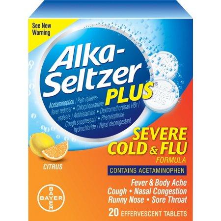 BAYER - ALKA SELTZER PLUS - (Cold & Flu Citrus) - 20TABLETS