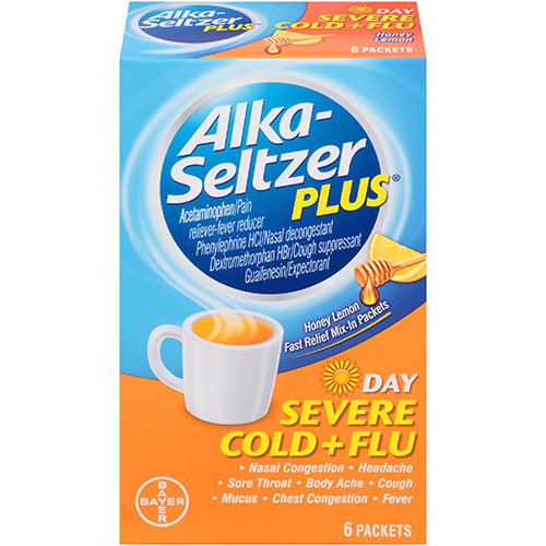BAYER - ALKA SELTZER PLUS - (Cold & Flu | Day) - 6PACKETS