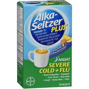 BAYER - ALKA SELTZER PLUS - (Cold & Flu | Night) - 6PACKETS