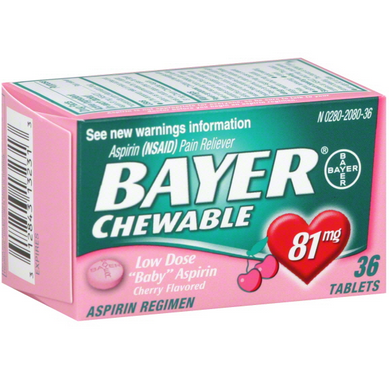 BAYER - CHEWABLE - 36TABLETS