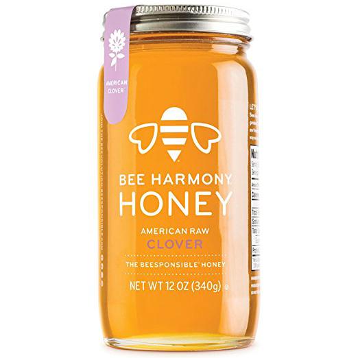 BEE HARMONY - HONEY - AMERICAN RAW CLOVER - 12oz