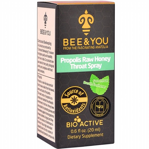 BEE & YOU - PROPOLIS RAW HONEY THROAT SPRAY - 1oz