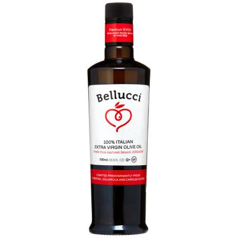 BELLUCCI - 100% ITALIAN EXTRA VIRGIN OLIVE OIL - NON GMO - GLUTEN FREE - 17oz