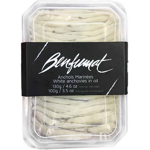 BENFUMAT - WHITE ANCHOVIES IN OIL - 3.5oz