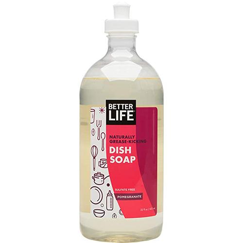 BETTER LIFE - NATURALLY GREASE KICKING DISH SOAP - (Pomegranate) - 22oz