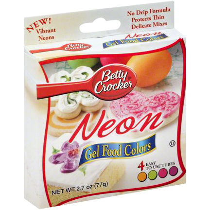 BETTY CROCKER - NEON GEL FOOD COLORS - 2.7oz
