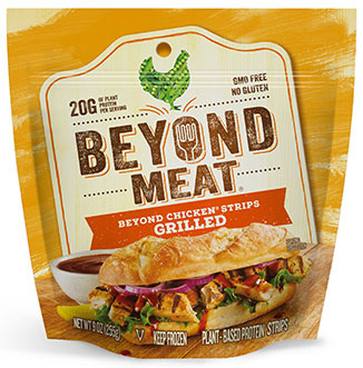 BEYOND MEAT - GRILLED CHICKEN STRIPS - NON GMO - GLUTEN FREE - 9oz