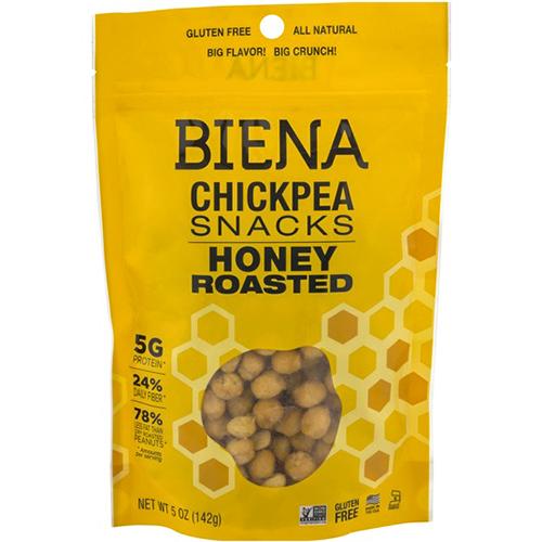 BIENA - CHICKPEA SNACKS - (Honey Roasted) - 5oz