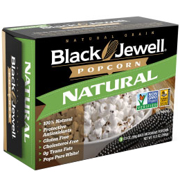 BLACK JEWELL - 100% NATURAL POPCORN - NON GMO - (Natural) - 10.5oz(3BAGS)
