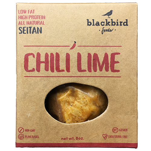 BLACKBIRD - LOW FAT HIGH PROTEIN ALL NATURAL SEITAN - NON GMO - VEGAN - (Chili Lime) - 8oz