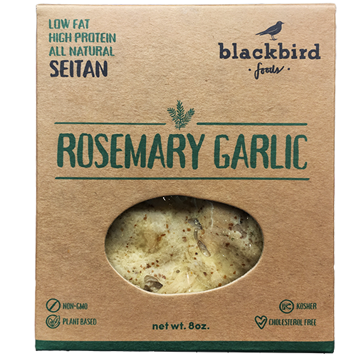 BLACKBIRD - LOW FAT HIGH PROTEIN ALL NATURAL SEITAN - NON GMO - VEGAN - (Rosemary Garlic) - 8oz