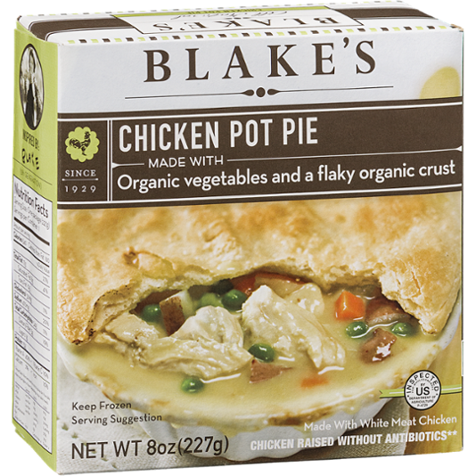 BLAKE'S - CHICKEN POT PIE (MADE /W ORGANIC VEGETABLES & A FLAKY ORGANIC CRUST) - 8oz
