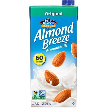 BLUE DIAMOND - ALMOND BREEZE ALMOND MILK - NON GMO - (Original) - 32oz