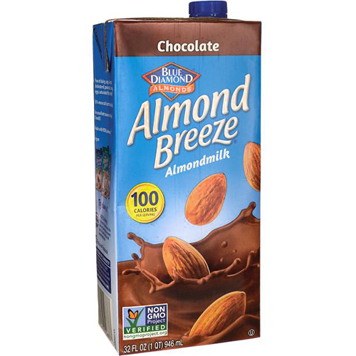 BLUE DIAMOND - ALMOND BREEZE ALMOND MILK - NON GMO - (Chocolate) - 32oz