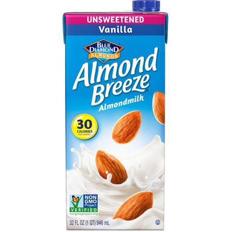 BLUE DIAMOND - ALMOND BREEZE ALMOND MILK - NON GMO - (Unsweetened | Vanilla) - 32oz