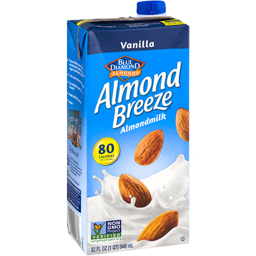 BLUE DIAMOND - ALMOND BREEZE ALMOND MILK - NON GMO - (Vanilla) - 32oz