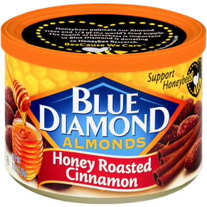 BLUE DIAMOND - ALMONDS - (Honey Roasted Cinnamon) - 6oz
