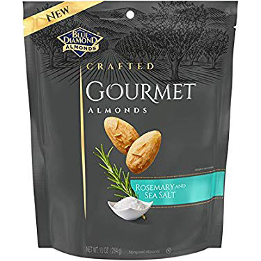 BLUE DIAMOND - CRAFTED GOURMET ALMONDS - (Rosemary and Sea Salt) - 5oz