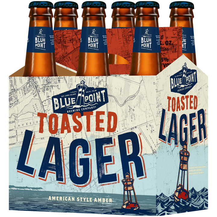 BLUE POINT POASTED LAGER - (Bottle) - 12oz(6PK)