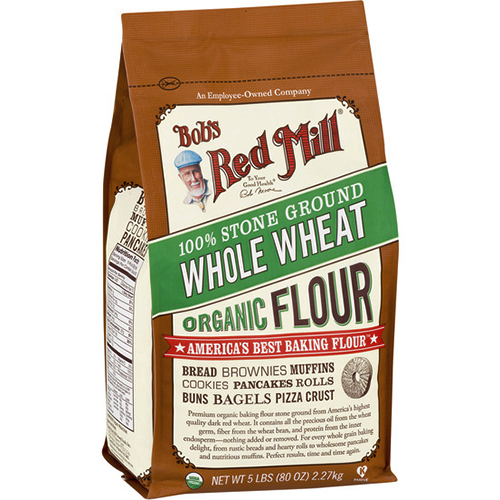 BOB'S RED MILL - 100% STONE GROUND WHOLE WHEAT ORGANIC FLOUR - 80oz