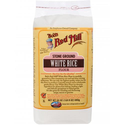 BOB'S RED MILL - STONE GROUND WHITE RICE FLOUR - 24oz
