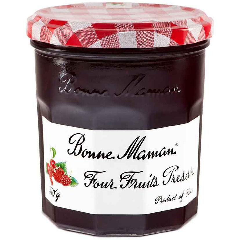 BONNE MAMAN - FOUR FRUITS PRESERVED - 13oz