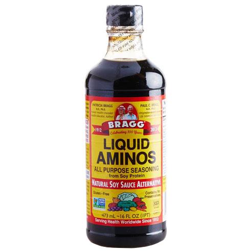 BRAGG - LIQUID AMINOS - GLUTEN FREE - NON GMO - 16oz