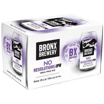 BRONX BREWERY - NO RESOLUTIONS IPA - (Can) - 12oz(6PK)