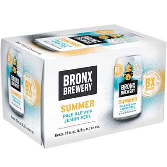 BRONX BREWERY - SUMMER PALE ALE /W LEMON PEEL - (Can) - 12oz(6PK)