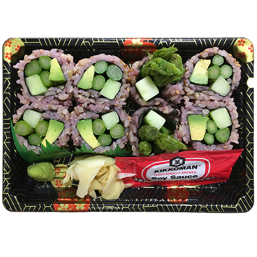 (Brown Rice) Asparagus Avo Cucumber Roll