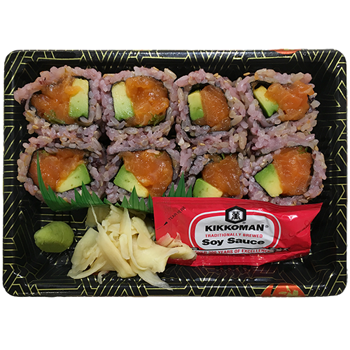 (Brown Rice) Spicy Salmon Avo Scallion Roll