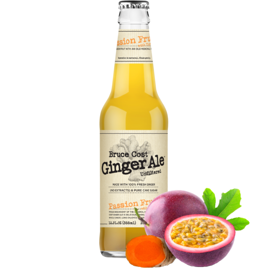 BRUCE COST - GINGER ALE - (Passion Fruit) - 12oz